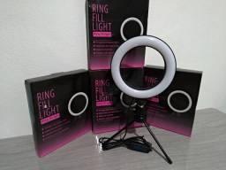 Ring Light Iluminador de Led 16cm (USB) com Tripé