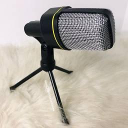 Microfone condesador com tripé ENTREGA GRÁTIS