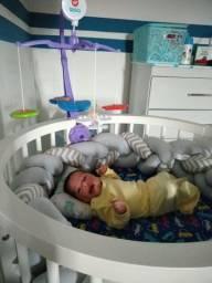 Carrinho, bebê conforto ,mobile. Roupinha para menino e sapatos