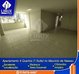 Alugo Apartamento de 140 m² com 04 quartos (01 suíte) em Caruaru/PE.