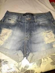 Short  jeans + short tecido