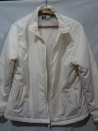Jaqueta branca acolchoada G