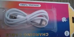 Cabo USB turbo para iPhone , ótima qualidade