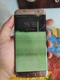 Vendo ou troco Samsung S7 Edge com tela trincada.