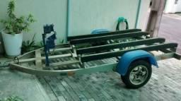 Carreta para dois jetski feita em alumínio