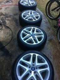 Rodas novíssimas aro 17 - furação 5x110 com pneus