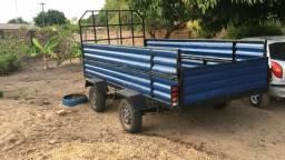 Carroça de 3,75 x 1,72 d largura leve recém construída