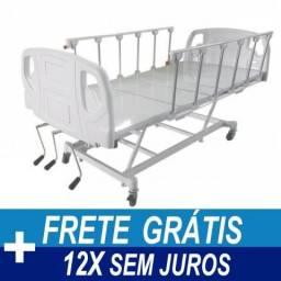 Cama Hospitalar com grades sanfonadas
