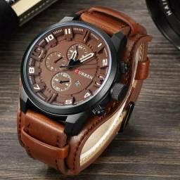 2e4e363a72c Relógio masculino curren original pulseira de couro importado