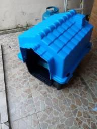 Casinha de cachorro N°4 (M/G) + Sanitário Higiênico + Jogo de Pote para Ração e água