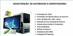 Manutenção de Computadores e Notebook