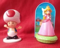 2  bonecos coleção Mário Bros