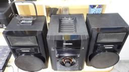 Micro system toshiba com 2 cxas acústicas