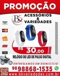 Relógio Led De Pulso Digital Unissex-(Loja BK Acessórios e Variedades)-Promoção