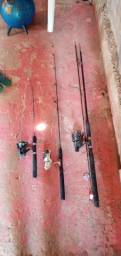 3 Varas de pesca