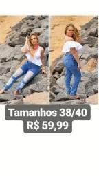 Calças, shorts e saias jeans