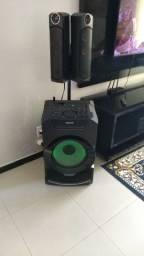 Som Sony Bluetooth e NFC preto MHC-GT5D