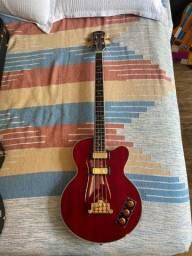 Baixo Epiphone Allen Woody Rumblekat Semi Acústico Hollow + Case dura Gibson
