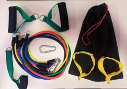 Kit de Elásticos extensor para exercícios Musculação, Yoga, Funcional Tubuing