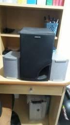 3 caixas acústicas 60 watts rms, 2 LG 1 PHILLIPS