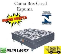 Entrega Rapida+Frete Gratis!!cama Box casal Nova Com selo do Inmetro,Aproveite!!