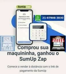 Máquina Cartão SumUp TOP, Nova, na Baixada e Rio, Taxa 0% nos 3 primeiros meses