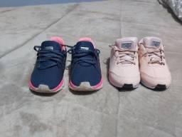 Tênis para crianças tamanho 27 feminina