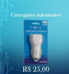 Carregador automotivo marca Inova