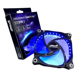 Cooler Fan Storm 2 Mymax 120mm 33leds 4 Parafusos 3 E 4pinos