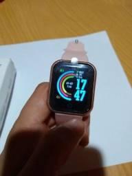 Relógio Smart Y68 Rosa