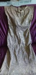 Vestido de festa usado só uma vez to vendendo porque engordei e nao da mas pra mim