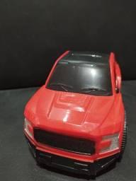 Camionete Vermelha e Preta Plástica 16 reais