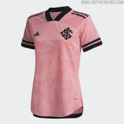 Camisa rosa do internacional Feminina