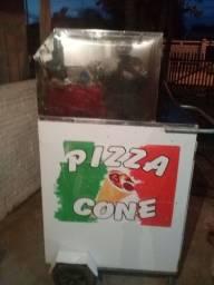 Carrinho de pizza de cone