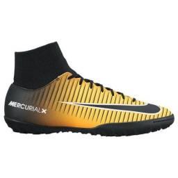 Chuteira Society Nike Mercurialx Victory VI Original/Laranja com preto
