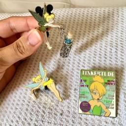 Trio de broches TinkerBell Originais Disney