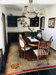 Mesa de jantar, italiana, estilo clássico, madeira maciça + 7 cadeiras