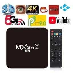 Transforme sua em Smart Tv - Aparelho TV Box MXQ 4k, 5g