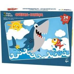 Jogo Educativo Quebra Cabeça Tubarão Pais & Filhos