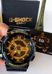 Relógio G-Shock Ga100 Preto/dourado