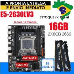 Kit Gamer Placa Mae X99 + Processador Xeon 2630L V3 + 16ram Ddr4 2666mhz