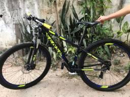 Bicicleta - pedal - sense one mountain aro 29 azul e amarelo