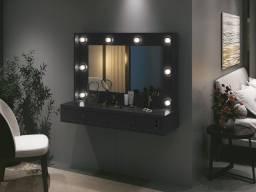 Penteadeira R923 1,05 m c/ espelho, gaveta com chave e porta jóias