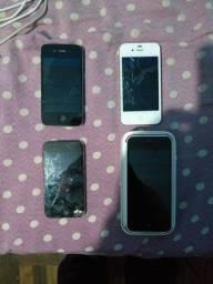Iphone 4s, 5c e  ipod