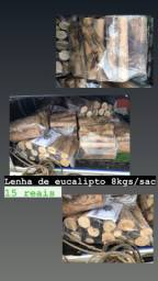 LENHA DE EUCALIPTO, 8kgs 15reais