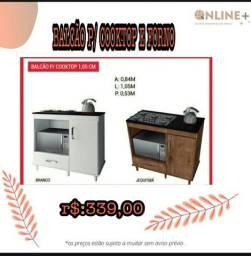 Balcão para cooktop e forno