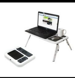 Mesa de notebook ajustável dobrável 2 coolers
