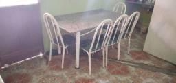 Mesa de cozinha 5 cadeiras marmore