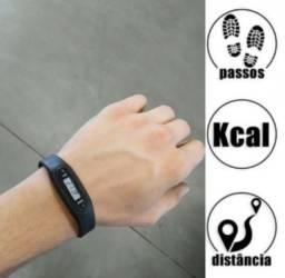 Pulseira relógio pedometro smart fit ideal para corridas