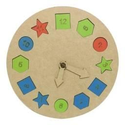 Relógio Infantil Mdf Colorido